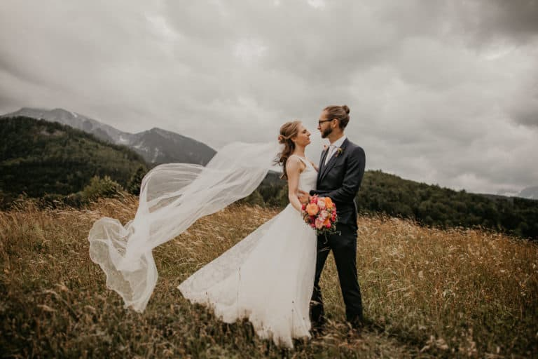 Freie Trauung Villa Bergzauber - Brautpaar