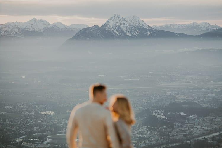 Paar-Shooting Salzburg am Gaisberg