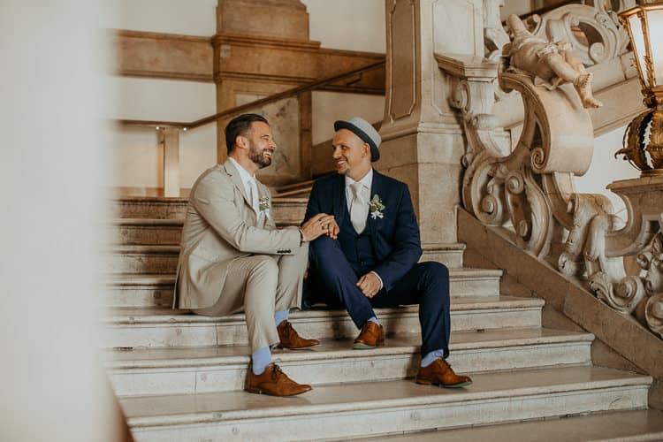 Hochzeit Salzburg Stadt, Schloss Mirabell, Paar-Shooting, Gay Couple, Same Sex, LGBTQ