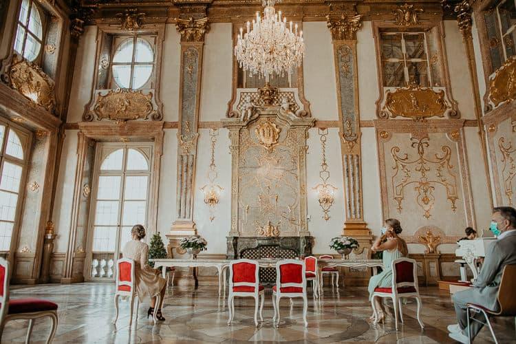 Hochzeit Salzburg Stadt, Schloss Mirabell, standesamtliche Trauung