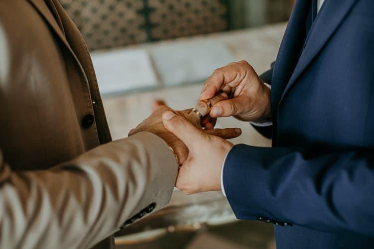 Hochzeit Salzburg Stadt, Schloss Mirabell, standesamtliche Trauung, Ringe, Eheringe, Ringtausch, Gay Couple, Same Sex, LGBTQ