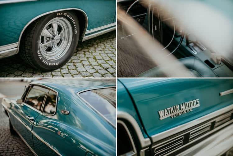 Hochzeit Salzburg Stadt, Schloss Mirabell, Auto, Oldtimer